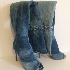 Liliana Denim Barbara 13 Over-The-Knee Boot